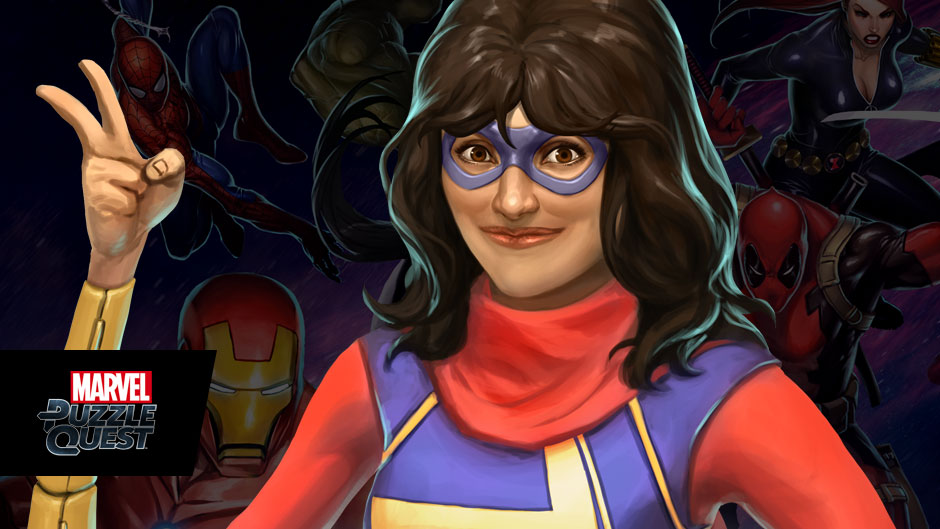 Ms. Marvel in Marvel Puzzle Quest