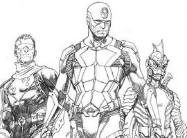 Uncanny Inhumans pencils by Steve McNiven