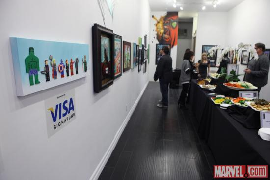 Avengers-inspired art at Gallery1988 in Los Angeles