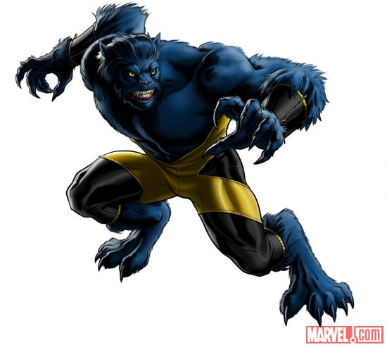 Beast character model from Marvel: Avengers Alliance