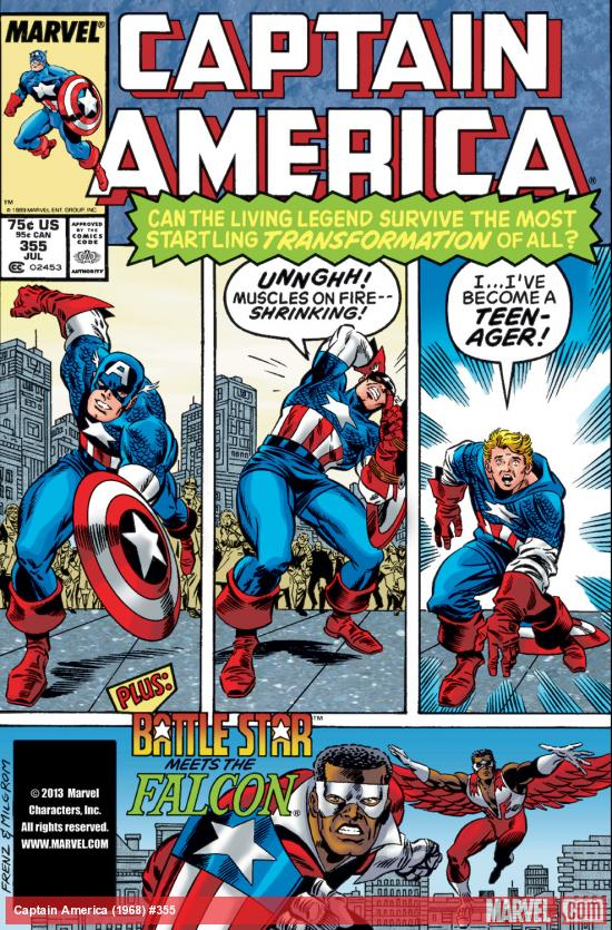 Captain America (1968) #355 Cover