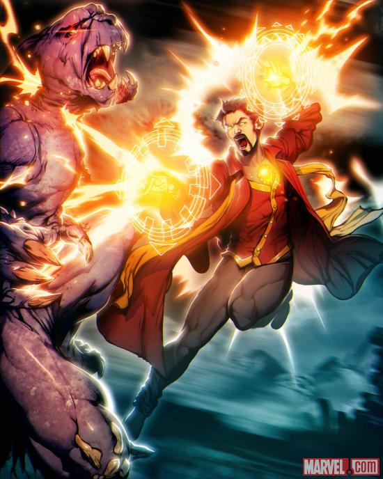 Doctor Strange card art by UDON from Marvel War of Heroes