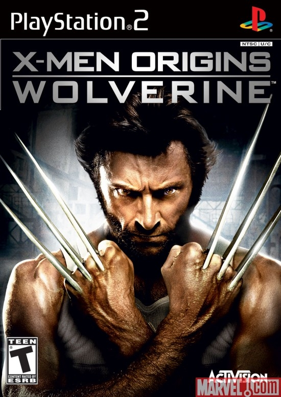 X-Men Origins: Wolverine PS2 Box Art