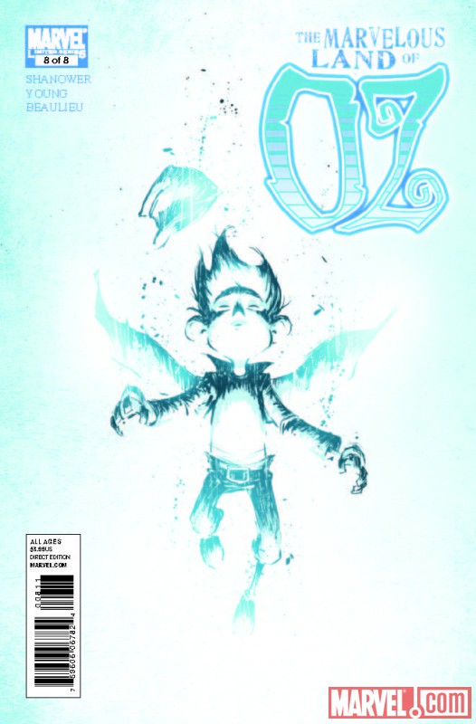 THE MARVELOUS LAND OF OZ #8 cover by Skottie Young