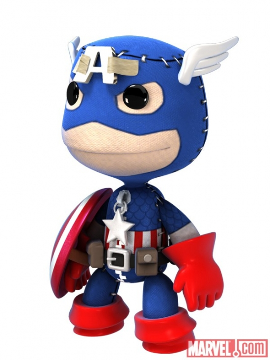 Captain America costume in LittleBigPlanet