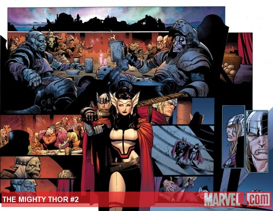 The Mighty Thor #2 preview art by Olivier Coipel