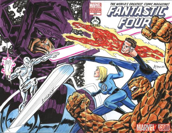 Fantastic Four #600 Hero Initiative variant cover by Alex Saviuk (II)
