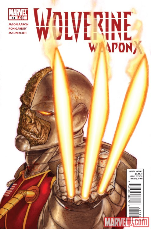 WOLVERINE WEAPON X #14 cover by Ron Garney