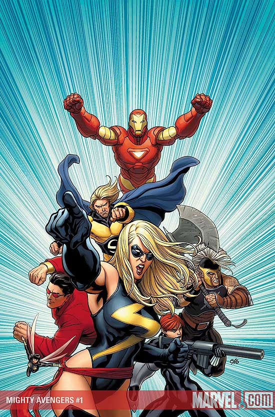 Mighty Avengers #1 cover by Frank Cho