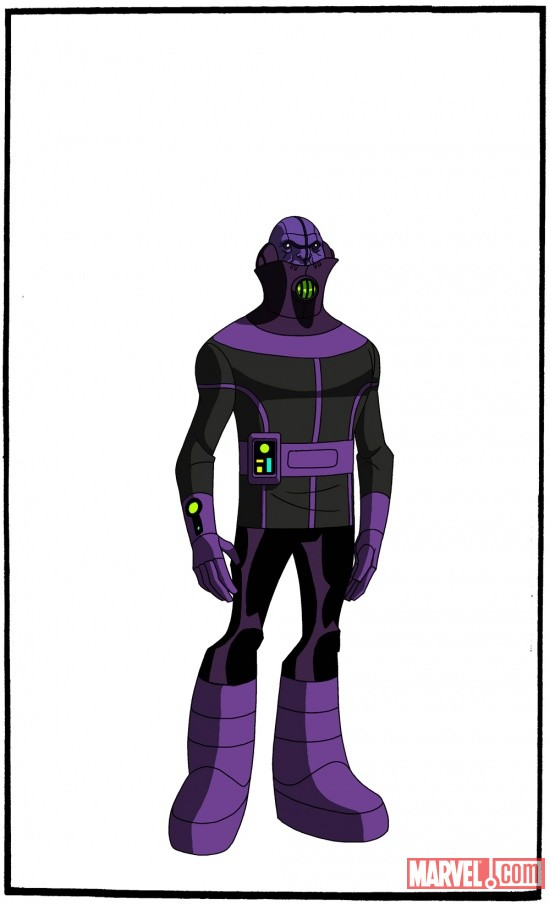 Final color art for Kang's minions from The Avengers: Earth's Mightiest Heroes