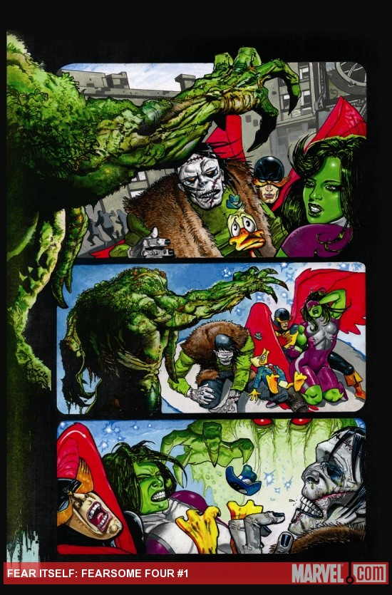 Fear Itself: Fearsome Four #1 preview art by Simon Bisley