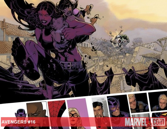 Avengers (2010) #16 preview art by Chris Bachalo