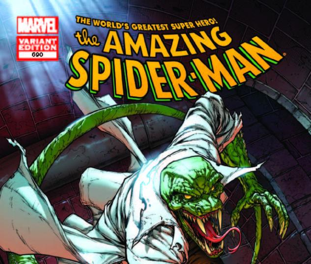 AMAZING SPIDER-MAN 690 LIZARD DAVIS VARIANT (1 FOR 25, WITH DIGITAL CODE)
