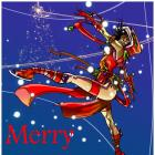 2012 Merry Christmas card from Carmine di Giandomenico, featuring Elektra