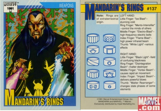 Mandarin's Rings, Card #137