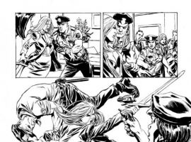 VALKYRIE #1 black and white preview art by Phil Winslade 8