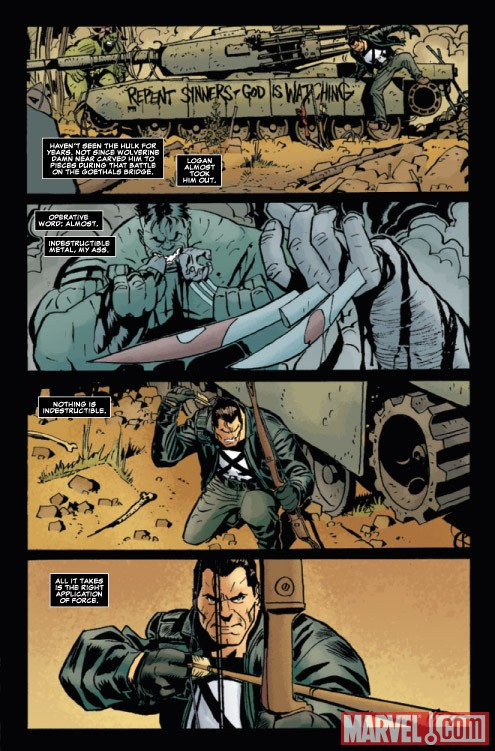 Marvel Universe vs. the Punisher #2 preview art by Goran Parlov