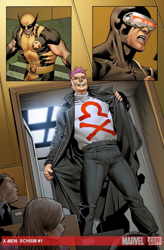X-Men: Schism #1 preview art by Carlos Pacheco