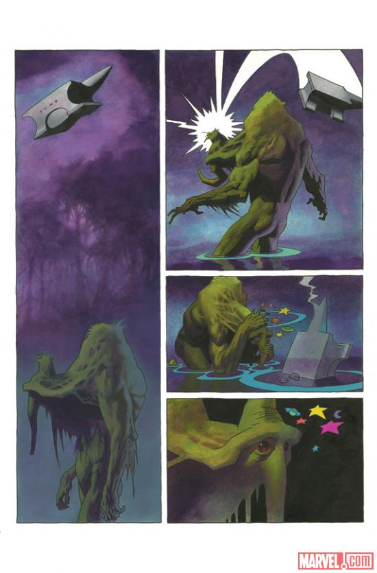 Infernal Man-Thing #1 preview art by Kevin Nowlan