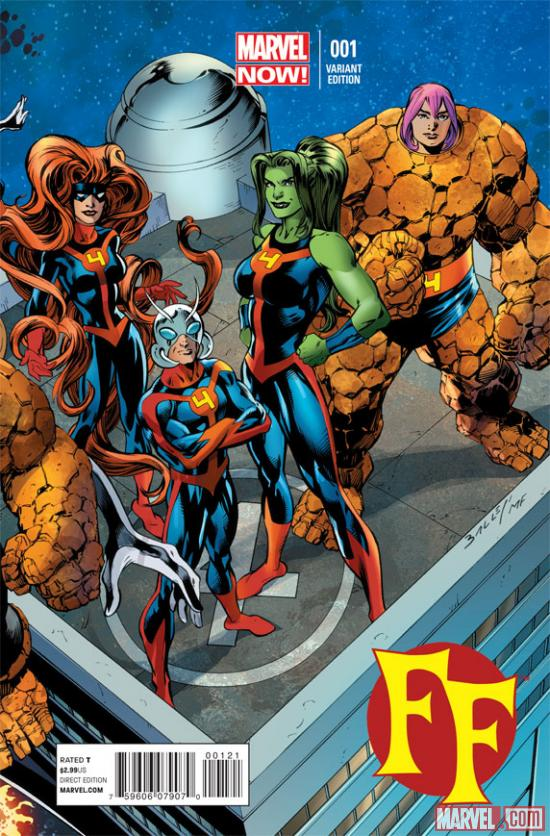 FF #1 variant cover by Mark Bagley