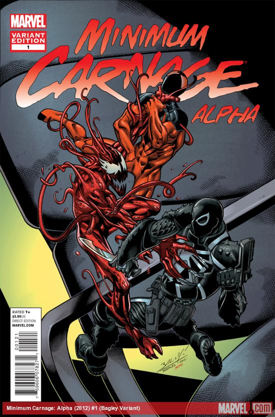 Minimum Carnage Alpha #1 variant cover by Mark Bagley
