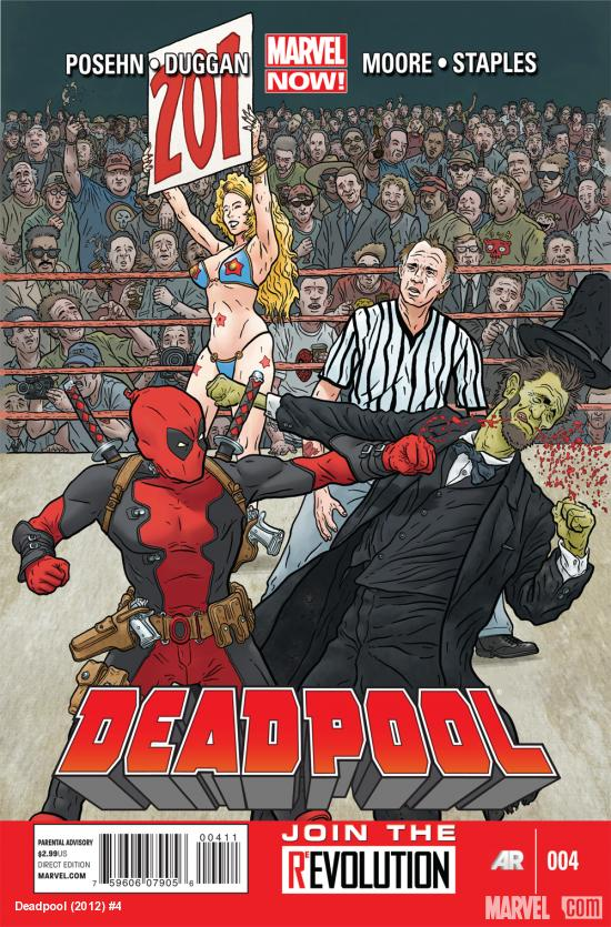 Deadpool (2012) #4 cover by Geof Darrow