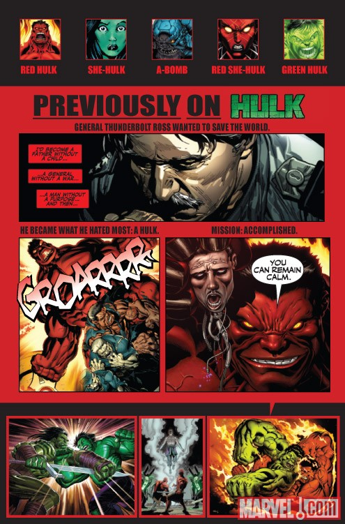Hulk #24 recap page