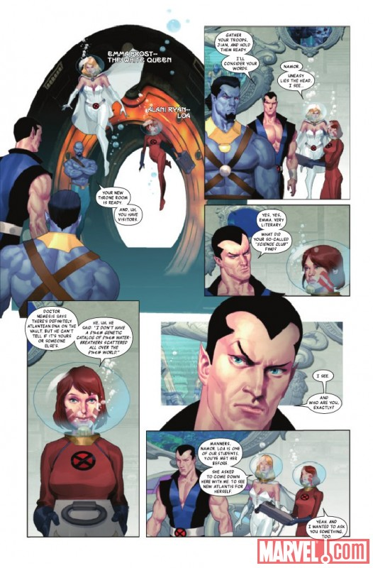 NAMOR: THE FIRST MUTANT #2 preview page by Ariel Olivetti