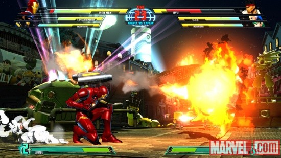 Marvel vs. Capcom 3 screenshot: Iron Man vs. Ryu
