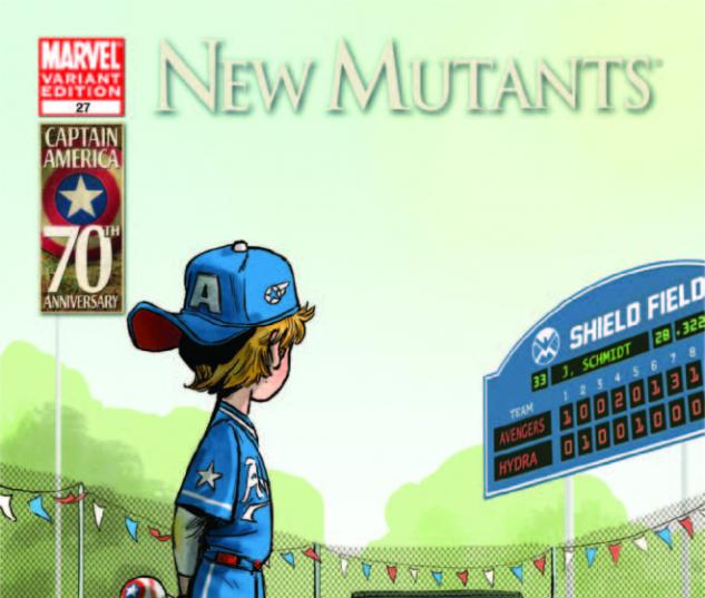 New Mutants (2010) #27, I Am Captain America Variant