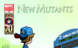 New Mutants (2010) #27, I Am Captain America Variant