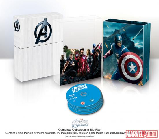 Marvel's The Avengers International Box Set Art - Blu-ray box art