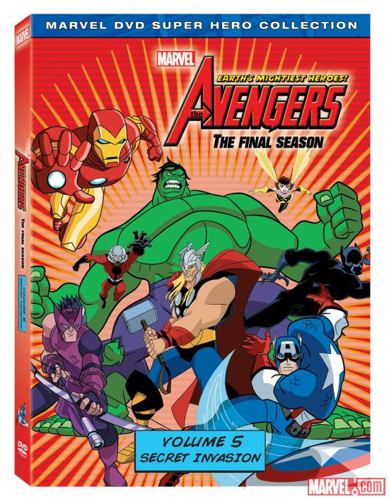 The Avengers: Earth's Mightiest Heroes! Vol. 5 DVD Box Art
