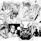 Indestructible Hulk #4 preview inks by Leinil Francis Yu