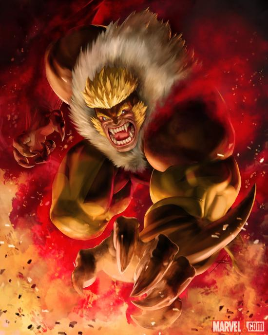 Sabretooth card art by UDON from Marvel War of Heroes