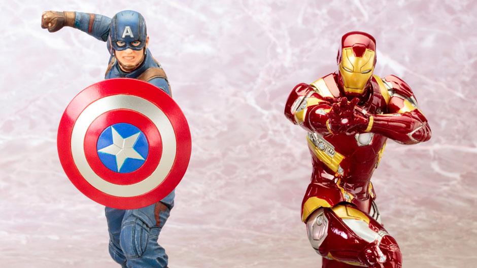 Captain America: Civil War ARTFX+ Statues