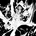 Venom (2011) #16 inked preview art by Lan Medina