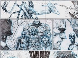 Infinity #2 preview pencils by Jerome Opena