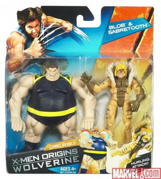 X-Men Origins: Wolverine Blob &amp; Sabretooth action figure twin-pack
