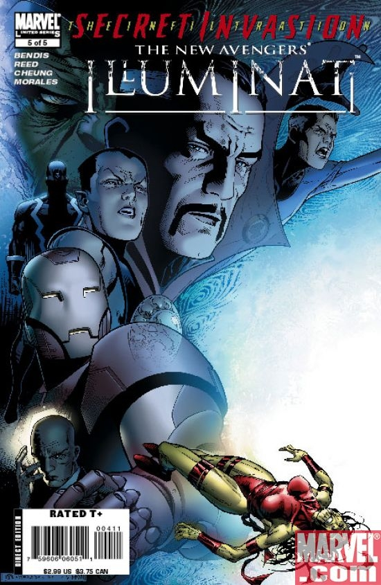 New Avengers Illuminati #5 - Black Bolt revealed as a Skrull