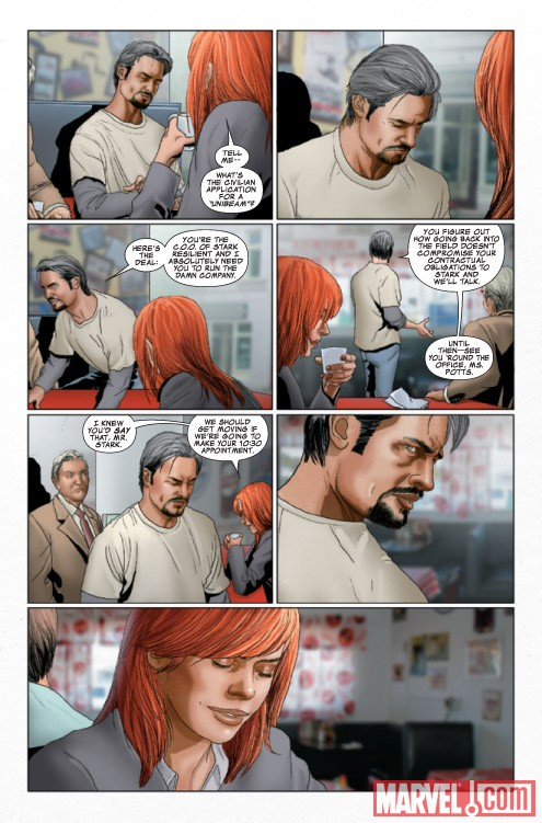 INVINCIBLE IRON MAN #27 preview art by Salvador Larroca