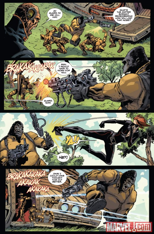 GORILLA-MAN #1 preview art by Giancarlo Caracuzzo
