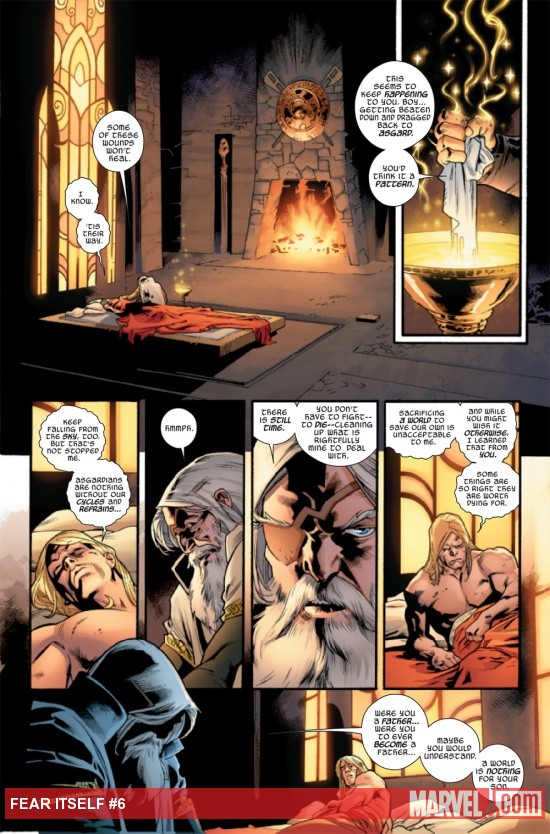 Fear Itself #6 page by Stuart Immonen