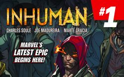 Inhuman #1 cover by Joe Madureira