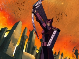 "Hawkeye from ""The Avengers: Earth's Mightiest Heroes!"""