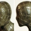 Wax casting of Dark Horse Spider-Man statue, head detail