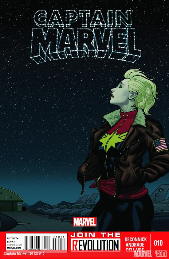 Captain Marvel (2012) #10 cover by Joe Quinones