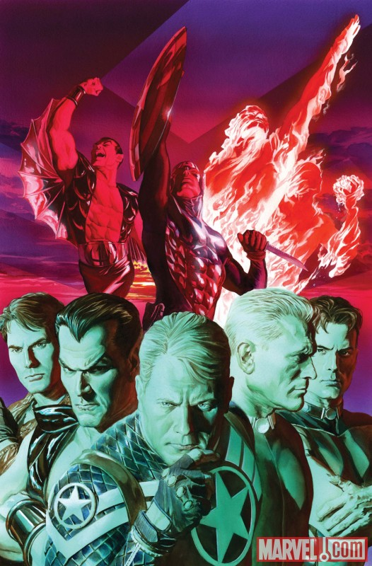 Image Featuring Captain America, The Winter Soldier, Sub-Mariner, Human Torch (Jim Hammond), Invaders