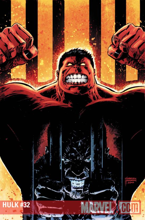 Hulk (2008) #32 cover by Gabriel Hardman