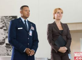 James Rhodes and Pepper Potts, reporting for duty
